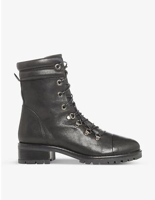 Dune Paz lace-up leather biker boots