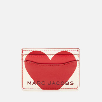 Marc Jacobs Women's Valentines Heart Card Case - Cotton Multi