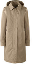 Lands' End Women's Petite Coastal Rain Coat with Removable Liner-Warm Khaki