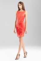 Josie Natori Lacquered Raffia Dress