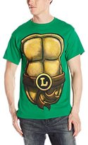 Nickelodeon Teenage Mutant Ninja Turtles Men's TMNT Leonardo Front and Back Costume T-Shirt
