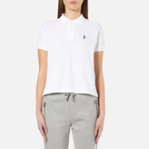 Polo Ralph Lauren Women's Short Sleeve Crop Polo Shirt White