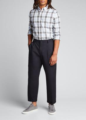 Save Khaki Men's Flannel Plaid Sport Shirt