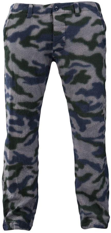 Facetasm camouflage print trouser