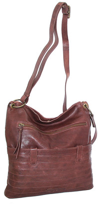 Nino Bossi Handbags Women's Handbags Chestnut - Chestnut Nieve Leather Crossbody Bag