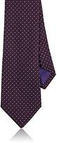 Ralph Lauren Purple Label Men's Pin-Dot-Weave Silk Necktie-PURPLE