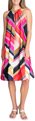 Trina Turk Marquesa Striped Halter Dress
