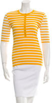 Michael Kors Striped Button-Up Top