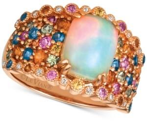 LeVian Le Vian Rainbow Multi-Gemstone (3-1/6 ct. t.w.) & Diamond Accent Ring in 14k Rose Gold