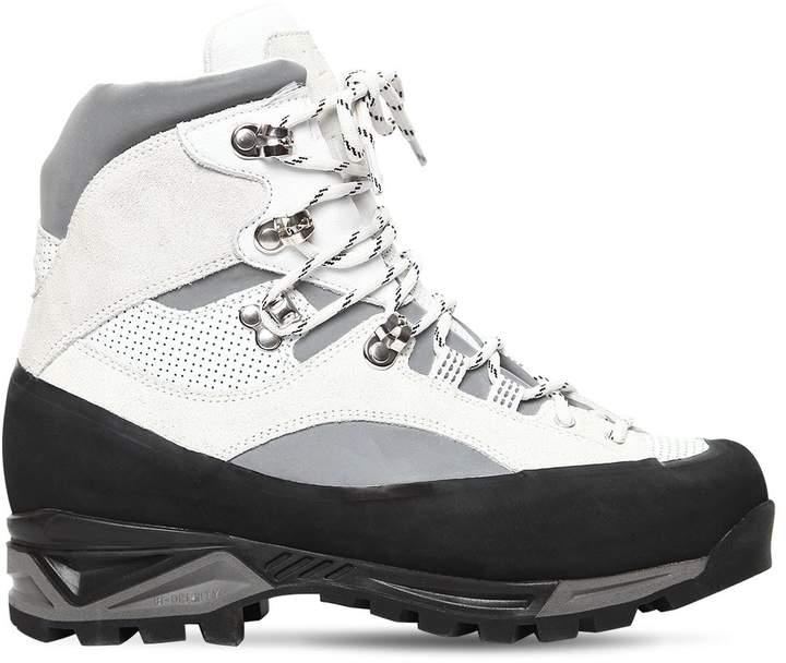 Ganni 40mm Sarai Rubber & Leather Hiking Boots