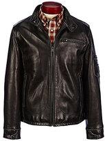 Roundtree & Yorke Lambskin Distressed Moto Jacket