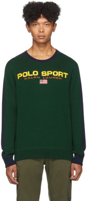 Polo Ralph Lauren Green and Navy Crewneck Sweater