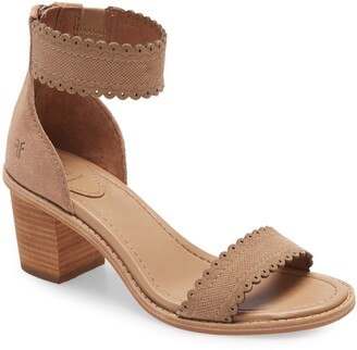 Frye Brielle Scallop Back Zip Sandal