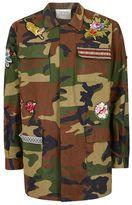Topman FINDS Khaki Camouflage Patch Jacket