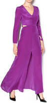 Line and Dot Silk Cut Out Maxi