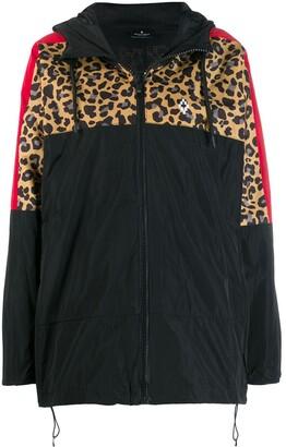 Marcelo Burlon County of Milan Contrast Panel Hooded Windbreaker Jacket