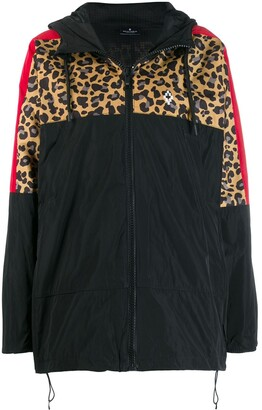 Marcelo Burlon County of Milan leopard panel windbreaker