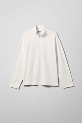 Weekday Tobias Half Zip Sweatshirt - Black