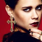 N. ROCK 'N ROSE Gabrielle Vintage Baroque Cross Earrings