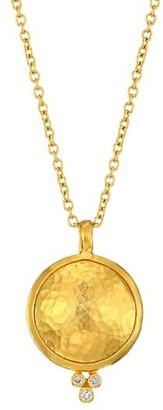 Gurhan Amulet 24K Yellow Gold, 22K Yellow Gold, 18K Yellow Gold & Diamond Pendant Necklace