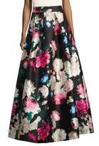 Eliza J Pleated Floral Ball Skirt