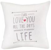 Hortense B. Hewitt I Will Love You Wedding Throw Pillow
