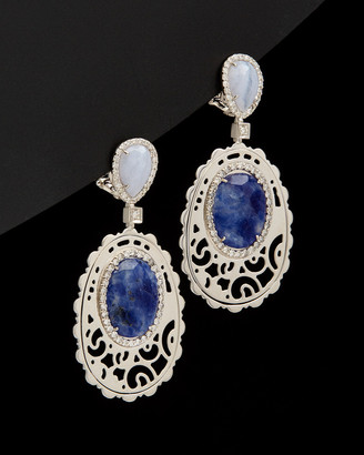 Italian Gold 14K 9.60 Ct. Tw. Diamond & Gemstone Clip Earrings