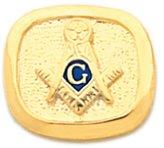 US Jewels And Gems Vermeil Masonic Blue Lodge Tie Tac