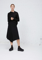 Oyuna Black Cashmere Skirt Trouser
