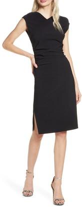 Elizabeth Crosby Ruched Sheath Dress
