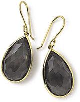 Ippolita 18k Rock Candy Single Teardrop Earrings in Black Shell