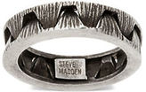 Steve Madden Stainless Steel Ribbed Crown Optic Textured Ring
