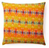 Woven Ikat 20x20 Cotton Pillow, Mustard