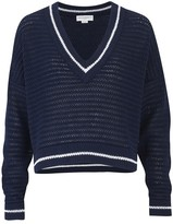 Amanda Wakeley Scale Indigo Loose Knit Top