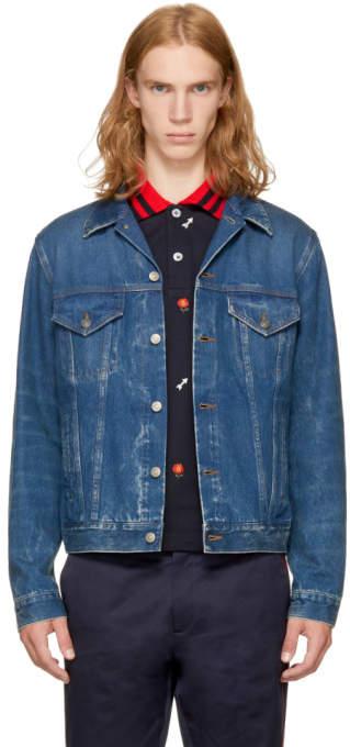 Gucci Blue Blind For Love Denim Jacket