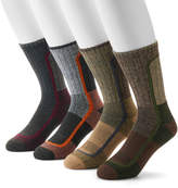 Columbia Men's 4-pack Colorblock Moisture-Control Crew Socks