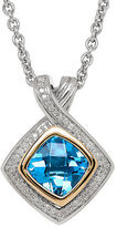 Lord & Taylor Blue Topaz and 14K Yellow Gold Pendant Necklace