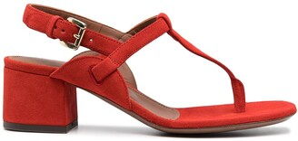 L'Autre Chose Suede Block-Heel Sandals