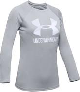 Under Armour Girls' UA Big Logo Long Sleeve Shirt