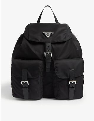 Prada Logo-plaque nylon backpack
