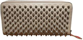 Christian Louboutin Panettone Beige Leather Wallets