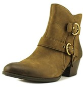 Earth Olive Women Round Toe Leather Brown Ankle Boot.