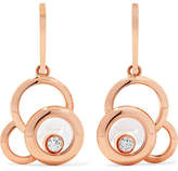 Chopard Happy Dreams 18-karat Rose Gold Diamond Earrings