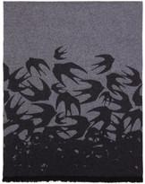 McQ Grey Swallow Dégradé Scarf