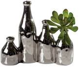 Torre & Tagus Chrome Milk Bottle 4-Piece Set