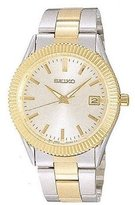 Seiko Dial Two-Tone Stainless Steel Men's Watch SKT068