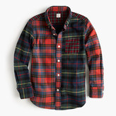 J.Crew Kids' oxford cotton shirt in mash-up plaid