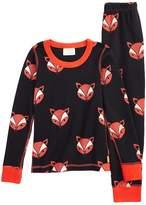 Masala Baby Fox Organic Cotton Fitted Pajama Set (Toddler, Little Boys & Big Boys)