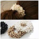 Lovef Jewelry Lovef 3 Pcs Fashion Women Pearls Beads Hair Band Rope Scrunchie Ponytail Holder