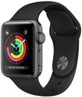 Apple Refurbished Watch Series 3 GPS, 38mm Aluminum Case with Black Sport Band